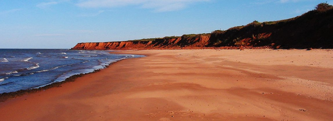 Image result for pei beach red sand