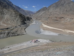 Confluence of Zanskar and Indus Rivers