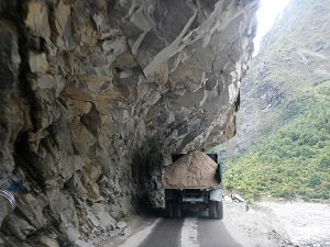 A truck on the way from Govind Ghat to Badrinath, Himalayan India