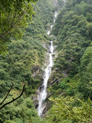 Part of a huge waterfall - it would not all fit in my camera screen, near Govind Ghat, Himalayan India