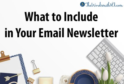 What to Include in Your Email Newsletter
