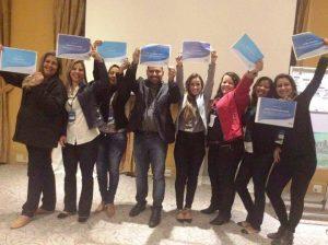 Secretário de Saúde de Teresópolis Julio Cesar Ambrosio e equipe da UPA comemoram participação no treinamento