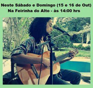 O cantor e compositor Spencer se apresenta neste sábado no ESSE PALCO VAI DAR TRABALHO na Feirinha.