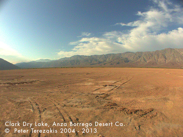 Clark Dry Lake, Anza Borrego Desert, California