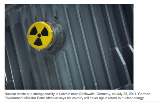 "After the 2011 Fukushima disaster in Japan, Germany embarked on an ambitious ""energy revolution"", deciding to phase out its nuclear power plants by the end of 2022 and bolster renewable sources of energy such as solar and wind power.  Read more at: http://phys.org/news/2013-01-german-minister-nuclear-power.html"