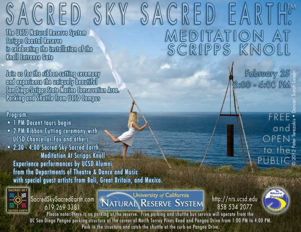 Sacred Sky Sacred Earth: Meditation at Scripps Knoll • 2 pm to 4 pm • February 25, 2012