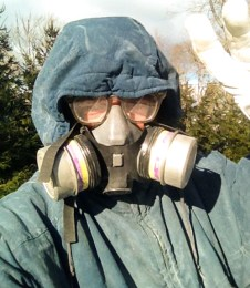 13F but not windy. Selfie featuring temperature, dust and eye protection