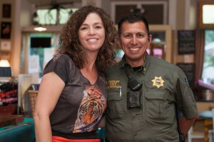 Sgt. Daniel Gonzales and Teri Case