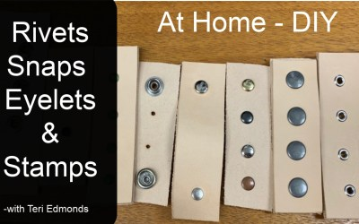 Installing Rivets, Eyelets, Snaps and Stamps  #athome