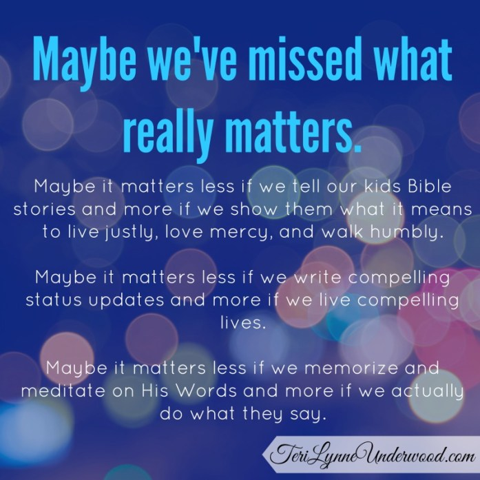 Do we focus on what really matters?