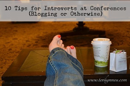 tips for introverts at conferences www.terilynneunderwood.com