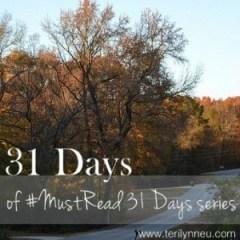 Must Read 31 Days www.terilynneunderwood.com