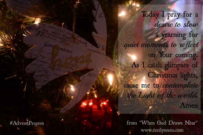 Prayer for Christmas Slowing