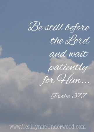 Sunday Scriptures    Psalm 37:7    www.terilynneunderwood.com/blog