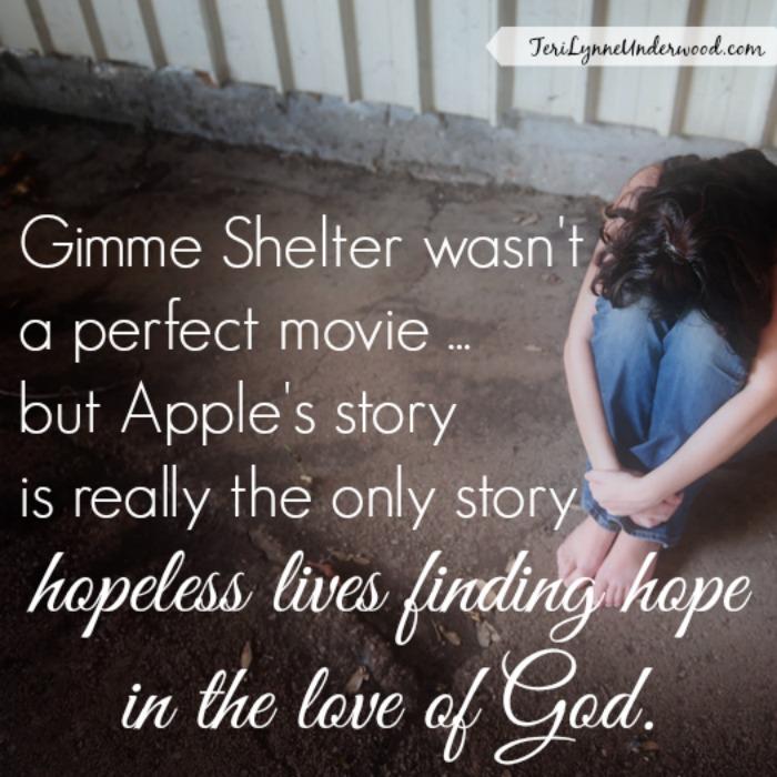 Gimme Shelter Review    Teri Lynne Underwood