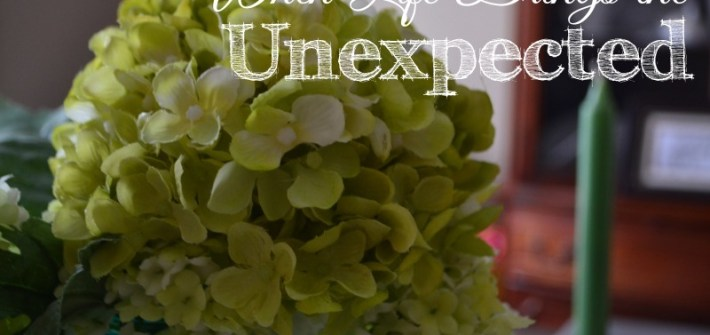 when life brings the unexpected    teri lynne underwood