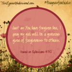 #PrayersforGirls based on Ephesians 4:32