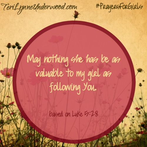 #PrayersforGirls based on Luke 5:28
