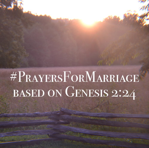 31 Verses to Pray for Your Marriage - Genesis 2:24