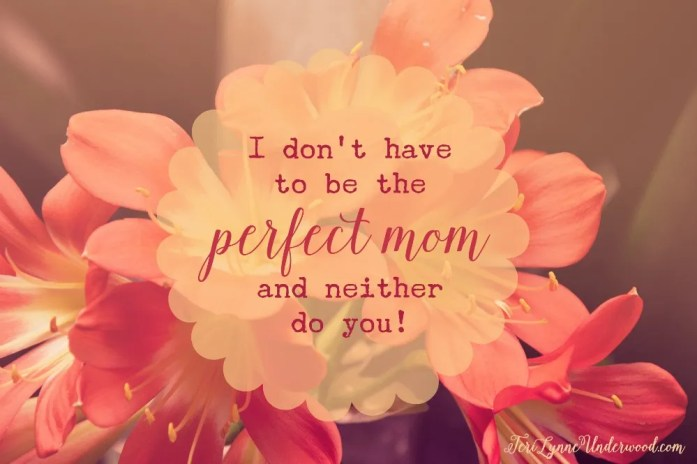 I'm Not a Perfect Mom ... and neither are you!