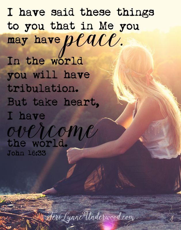 Jesus offers us peace when life is hard.