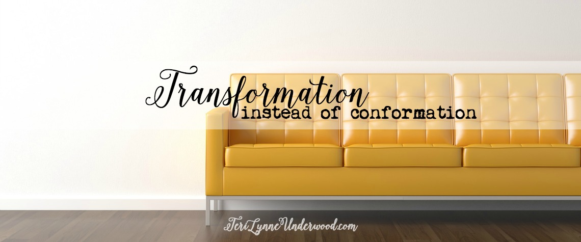 Day 2 of STAND OUT: 7 traits of a counter cultural life ... Transformation instead of conformation. Romans 12:2