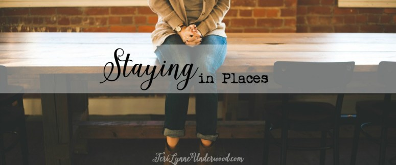 """Whenever I hear someone discuss a situation where they feel dissatisfied and begin to explain why God wouldn't want them to be there, I always wonder to myself, """"What if those things are exactly the reason God does want you there?"""" There is often value when we stay in places … even the hard and uncomfortable places."""