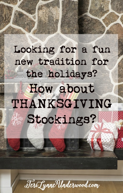 What a great way to kick off the Christmas season ... give everyone Thanksgiving stockings! 25 ideas for what you can put in yours!