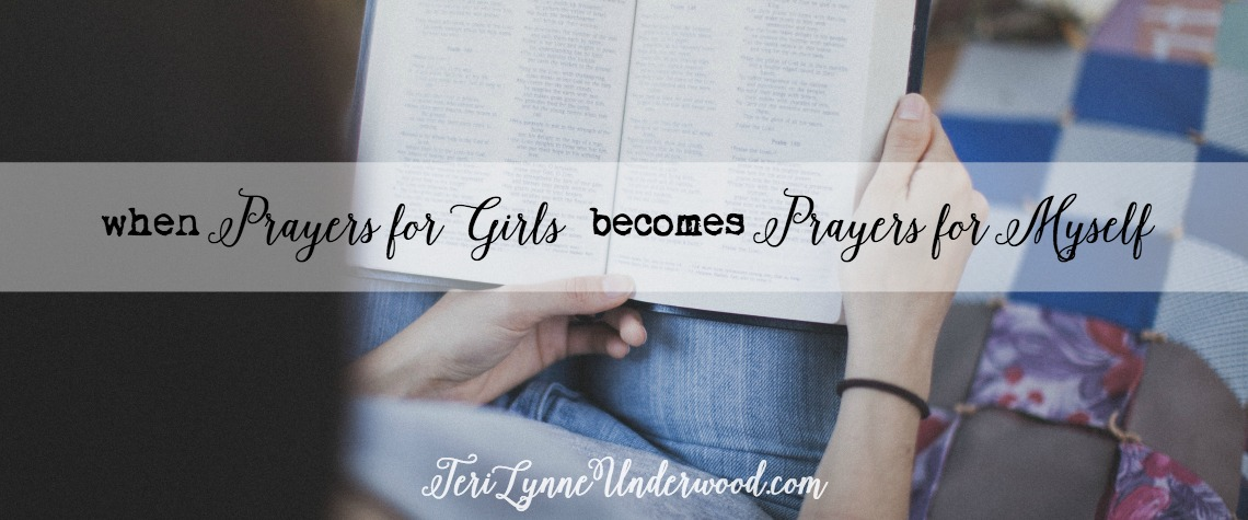 We pray for our girls because we are desperate and we long for them to know God, to walk with Him, to experience the fullness of life He offers. But all those words of hope and encouragement and conviction are also for us. The more I pray for my girl, the more I am also leaning into the Word for myself.