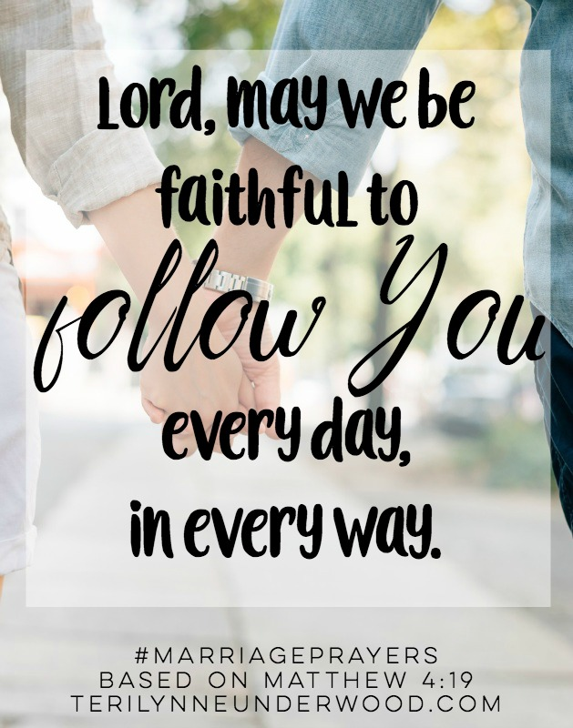 #MarriagePrayers || May we be faithful to follow Him always. || based on Matthew 4:19