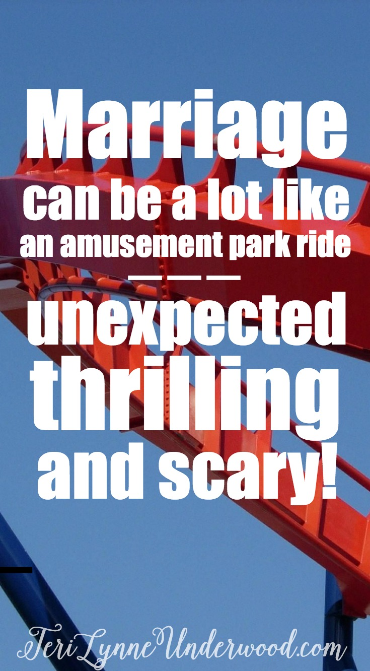 Marriage can be like an amusement park ride. 3 ways to stay grounded - even when it feels like a roller coaster.