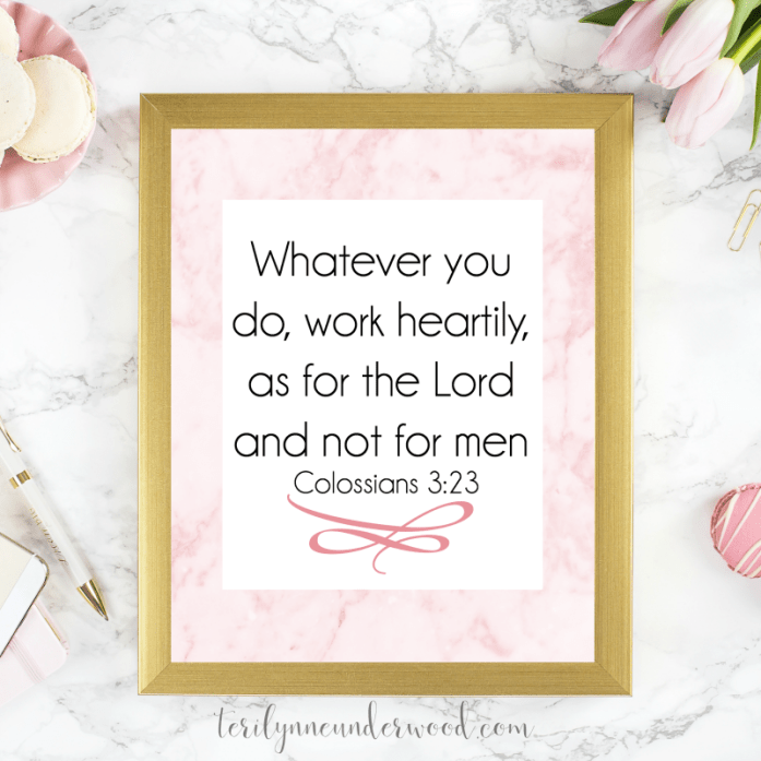 Whatever you do, whatever situation you are in ... lean into Him. Trust His plans and purpose. Make Christ your focus and your aim.