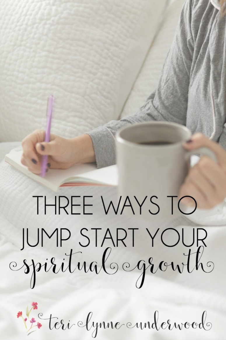 Feeling a little stagnant spiritually latelY? It happens to all of us. The key is not staying there ... 3 ways to jump start your spiritual growth!