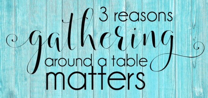 when we gather around a table, something amazing happens! we build community.