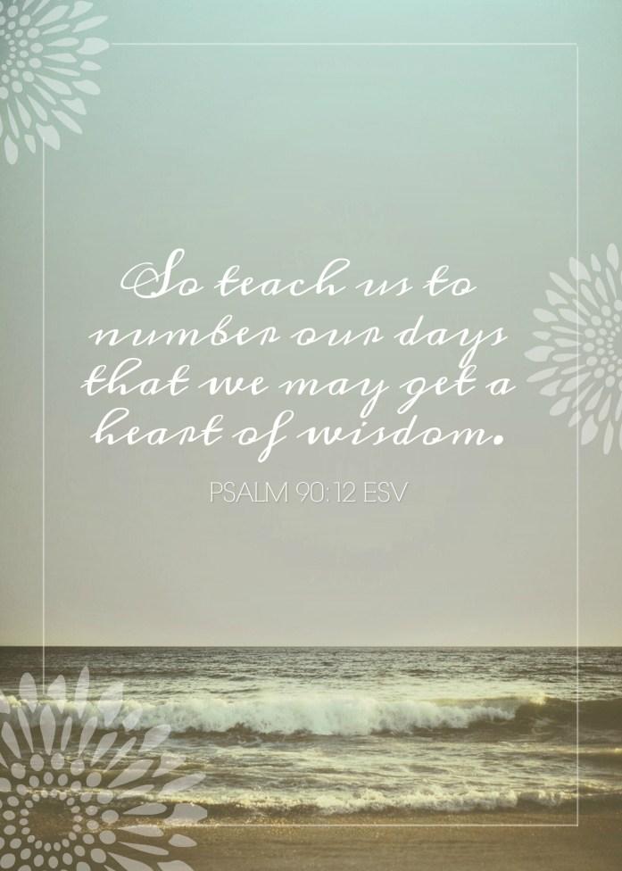 Psalm 90:12 Printable