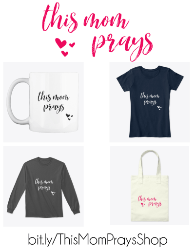 Why not let others know you are praying for your kids? Check out the great new merchandise available in the THIS MOM PRAYS shop!