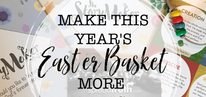 Make this year's Easter basket more meaningful by including items designed to encourage your child's spiritual growth. The Story Maker products from Spread Truth are awesome resources for helping your child understand the gospel message and for giving them the tools to share that same message of hope with their peers.