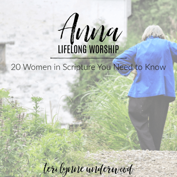 Anna: Lifelong Worship || 20 Women in the BIble You Need to Know  Anna, the woman who had devoted nearly century to serving the Lord, saw with her own eyes the Salvation she had prayed would come. Truly, her faith had become sight!