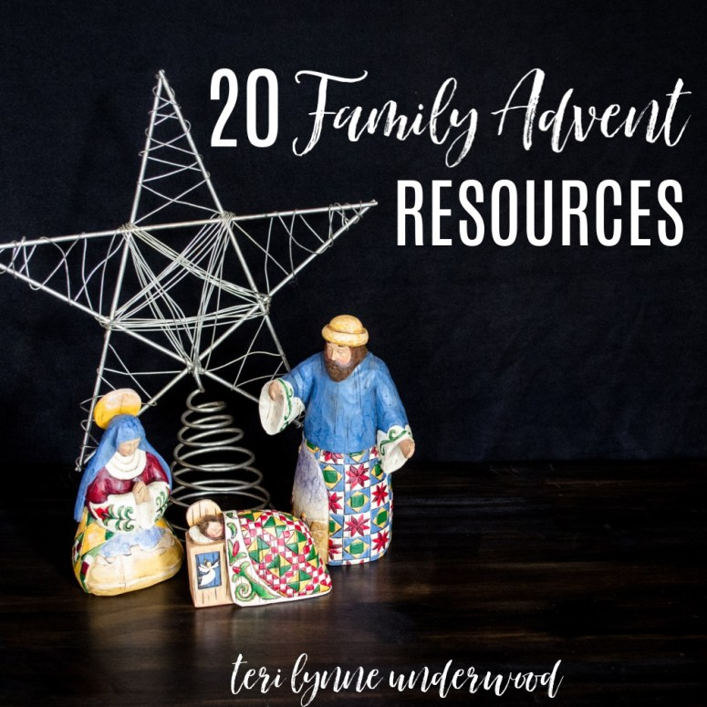 20 Family Advent Resources  Looking for great Advent resources for your family? Here are some ideas in several different categories including families with no little ones, weekly and daily devotions, storybooks, and more!