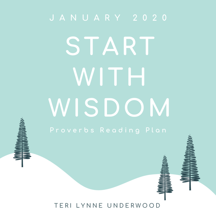 Start with Wisdom is a 31-day guided reading plan of Proverbs using the Read-Reflect-Respond Bible study method.