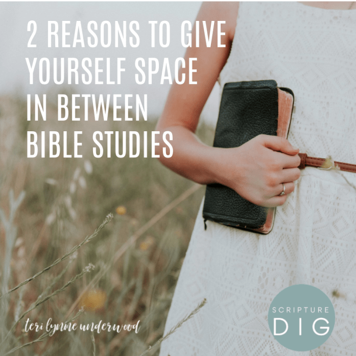Why is giving ourselves space in between Bible studies valuable? Two reasons not to jump from study to study.