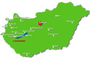 Hlavní termály na mapě
