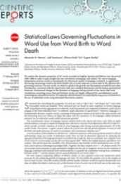 Statistical Laws Governing Fluctuations in Word Use from Word Birth to Word Death