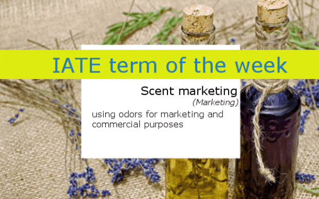 IATE definition of scent marketing - A table with herbs and two bottles of aroma oil