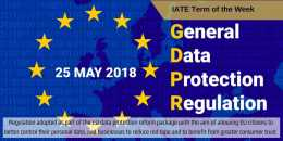 IATE Term of the Week: General Data Protection Regulation