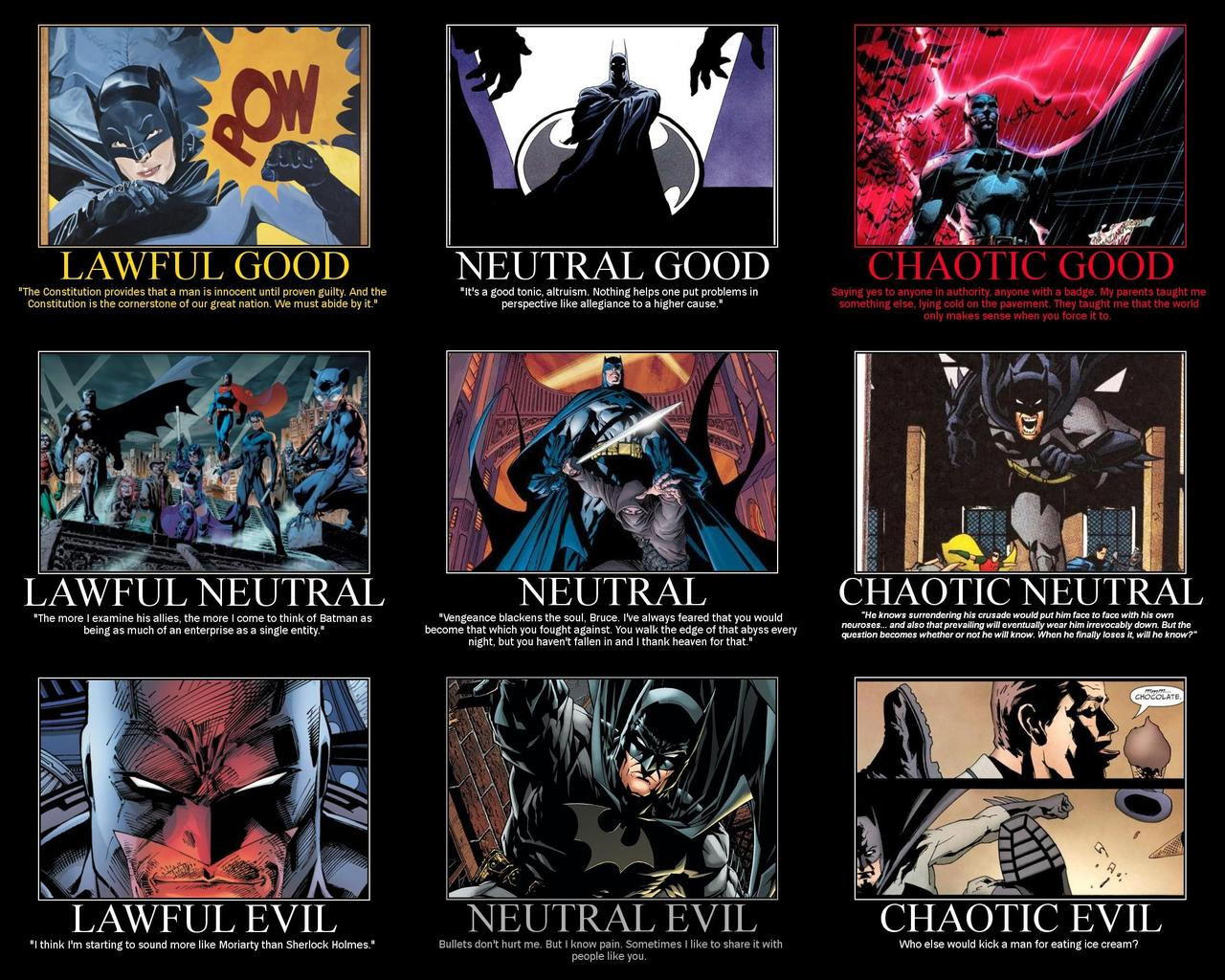 Image result for batman as every D&D alignment