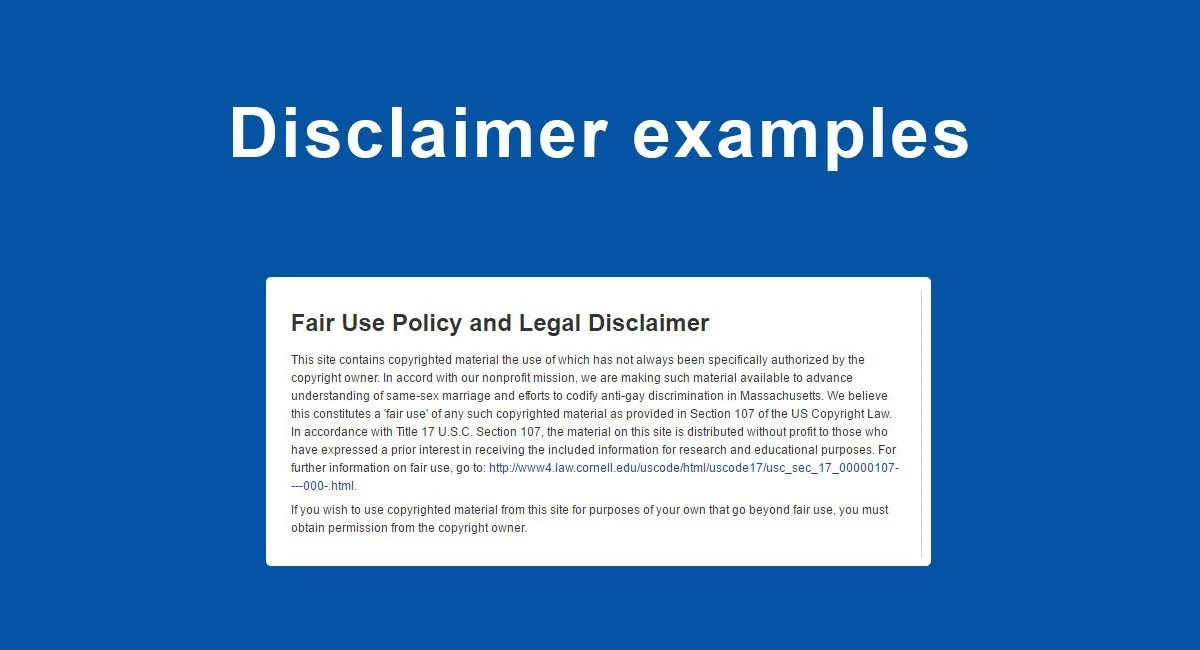 Articles On Disclaimers Termsfeed