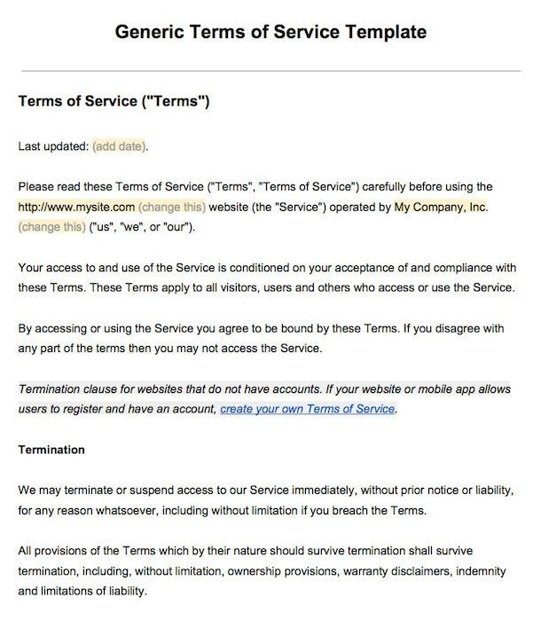 sample terms of service template termsfeed Terms Of Service id=39493