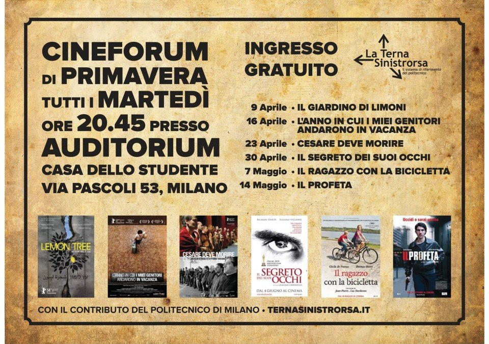 Cineforum primaverile