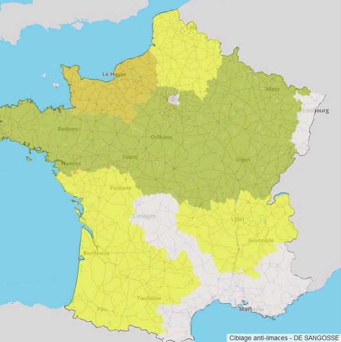 Carte du risque limaces